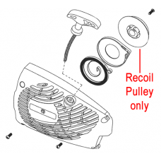 Mitox Chainsaw Recoil Pulley MIYD36.02.01-1