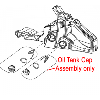 Mitox Chainsaw Oil Tank Cap Assembly MIYD38-6.03.03-00