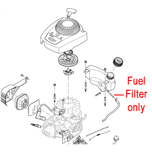 mountfield rs100 fuel filter 118550715  0