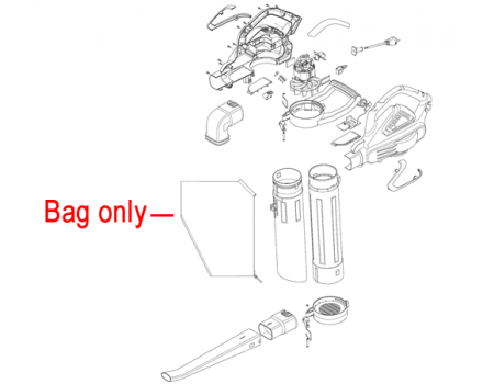 Mountfield MBL2600 Collection Bag 118801616/0