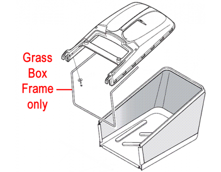 Mountfield Grass Catcher Frame 122608525/1