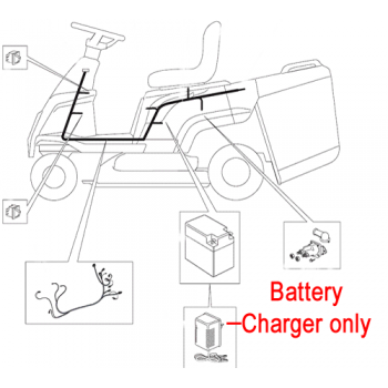 Mountfield Ride On Battery Charger CB02 182180053/0