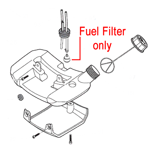 mountfield fuel filter brushcutter trimmer 183520005  0