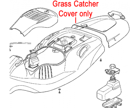 Mountfield Grass Catcher Cover Grey 327110443/0