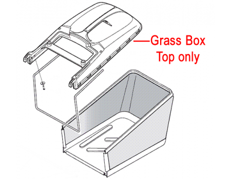 Mountfield Grass Box Top c/w Full Indicator 381486013/0