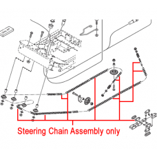 Stiga Steering Chain Assembly 1134-6379-02