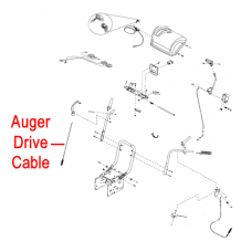 Stiga 1812-2183-01 Drive Cable Auger for Stiga Pro 1171 and 1381 HST