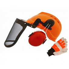 Forestry Combi Safety Helmet & Chainsaw Gloves Package