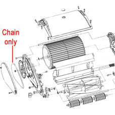 Webb H12R Cylinder Mower Drive Chain TH133-5